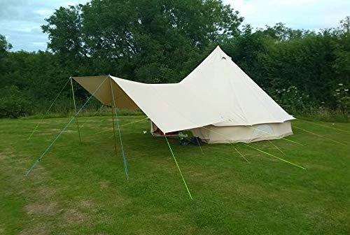 Canvas Bell Tent Awning 360 x 240 - 2 pole ... 1