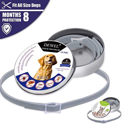Kayard Hundehalsband, Anti-Flöhe Zecken, Halsbänder für Katzen, Hunde, Mücken im Freien, verstellbar, Hundezubehör