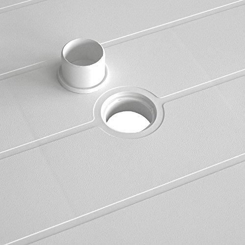 Einfaches Set 6+1 Kunststoff in Weiß - 6
