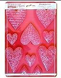 Stampo Maxi in PVC flessibile cm.21x29,7 'Cuori con texture' K3PTA425