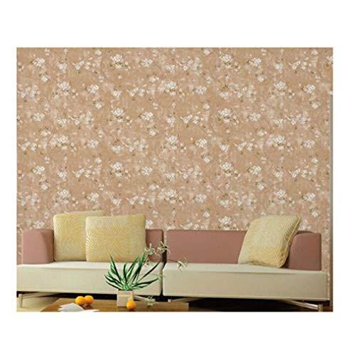 Hintergrundbild lvyanfei2019@outlook.com Tapete-Weinlese-Hirtenvlies-Wohnzimmer-Sofa-Fernsehhintergrund-Wand-Schlafzimmer-Tapete (Color : Coffee)