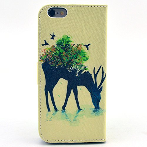 "MOONCASE iPhone 6 Case Motif Conception Coque en Cuir Portefeuille Housse de Protection Étui à rabat Case pour iPhone 6 (4.7"") P64"
