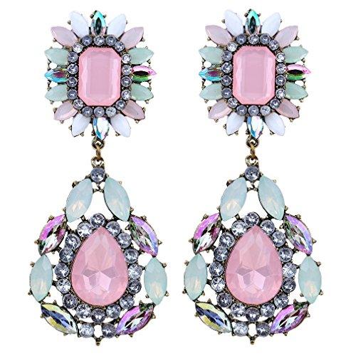 Yazilind pendientes de la joyería de cristal cuelgan coloridas Exquis