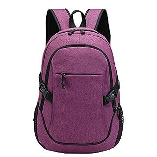 Asdomo Unisex Teen Laptop Backpack with USB Charging Port School Backpack Rucksack Waterproof Business Backpack Travel Bag