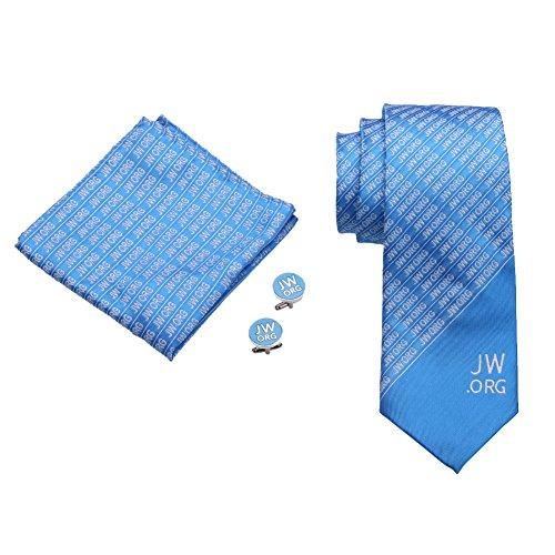 Fengteng Jw.org Krawatte Taschentuch Manschettenknöpfe Clip Fashion Herren für Casual & Arbeitskleidung Männer Cufflinks Set