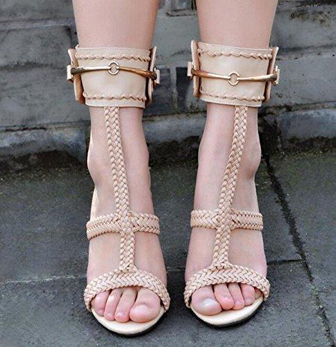 Chaussette à cheville Chaussures à talons ouverts à la femme Chaussures élastiques à talons hauts