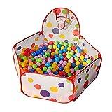 Kinder-Bllebad-Pop-Up-Zelt-Kinderspielzelt-Baby-Spielhaus-Outdoor-mit-Mini-Basketballkorb-Single-Ball-Pool-40Inch
