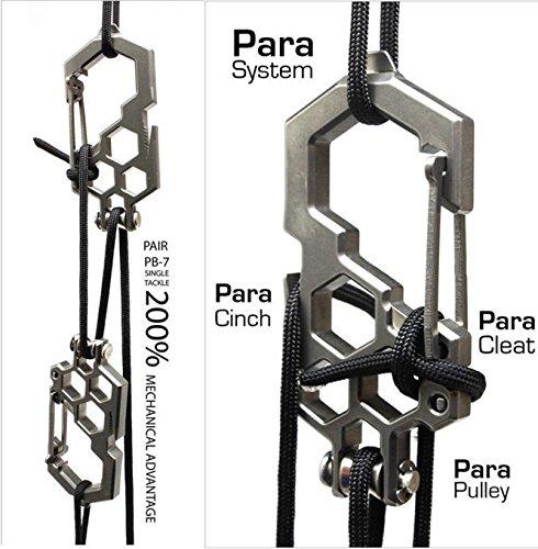 Other 2 x Edelstahl Riemenscheibenkarabiner/Parabiner, Silber