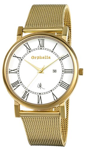 Orphelia–Milano Analogique Montre Bracelet Homme or153–9704–12