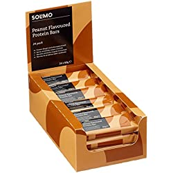 Amazon-Marke: Solimo Proteinriegel, Geschmack: Erdnuss (24er-Pack)