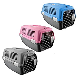 ASAB-Travel-Carrier-Bag-Transport-Cage-Portable-Crate-Pet-Puppy-Cat-Dog-Rabbit-Large-Kennel-48cm-x-30cm-x-28cm-Folding-Handbag-Breathable-Metal-Door