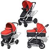 tidyard 2-in-1 Buggy Kinderwagen Klappbar Kindersportwagen | für Babys und Kleinkinder | Regenschutzhaube | ab Geburt nutzbar | Aluminium Praktische für Kinder bis zu 15 kg