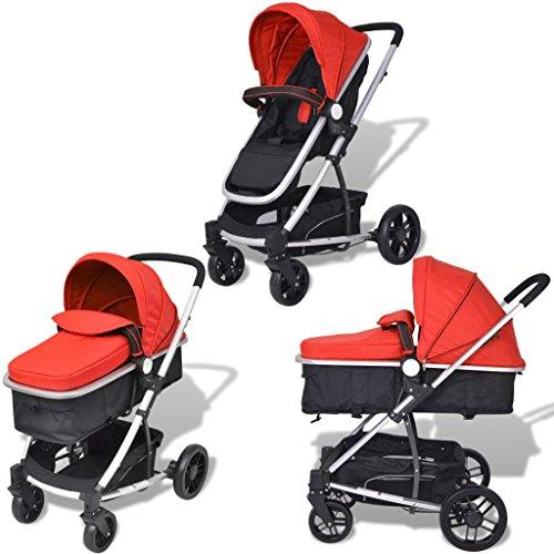 tidyard 2-in-1 Buggy Kinderwagen Klappbar Kindersportwagen   für Babys und Kleinkinder   Regenschutzhaube   ab Geburt nutzbar   Aluminium Praktische für Kinder bis zu 15 kg