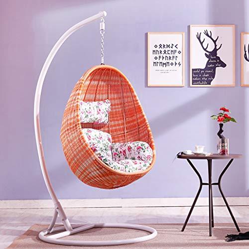 Schaukelstuhl Outdoor Doppel Hängenden Korb Stuhl, Hohe Rebound Kissen Kissen Farbe Zufälliges Geschenk -