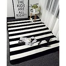 suchergebnis auf amazon.de für: teppich schwarz weiß gestreift - Wohnzimmer Teppich Schwarz Weis