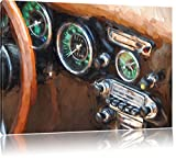 Maserati Gran Turismo Bild auf Leinwand, XXL riesige Bilder fertig gerahmt mit Keilrahmen, Kunstdruck auf Wandbild mit Rahmen, guenstiger als Gemaelde oder Bild, kein Poster oder Plakat, Format:120x80 cm