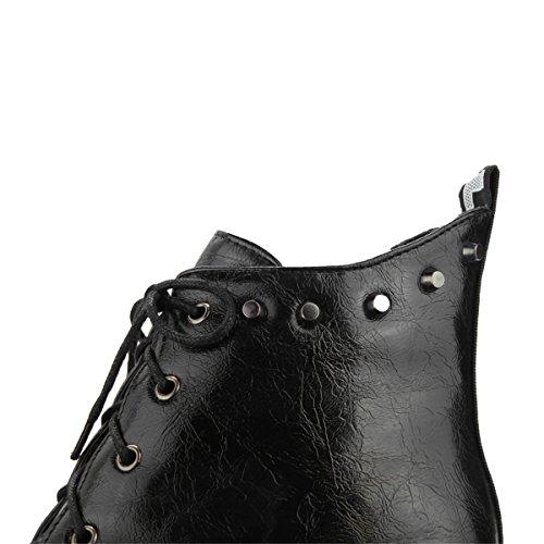 De Sete Fivelas Boots Botas Brancas Ankle E Salto Laço Ye Cunha Centímetros Tornozelo Salto Com Mulheres Planalto 7xgHq6