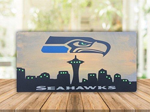 Monsety Holz Schilder für Home Decor Seattle Seahawks 15x 30cm Holz Plank Aufhängen Schild Sprüche