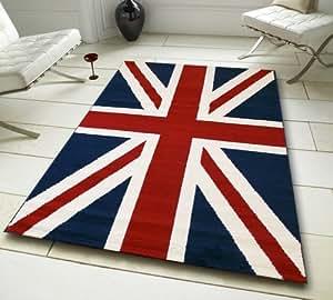 nouvelle union jack tapis la grande bretagne pavillon bleu rouge et blanc grande pour. Black Bedroom Furniture Sets. Home Design Ideas