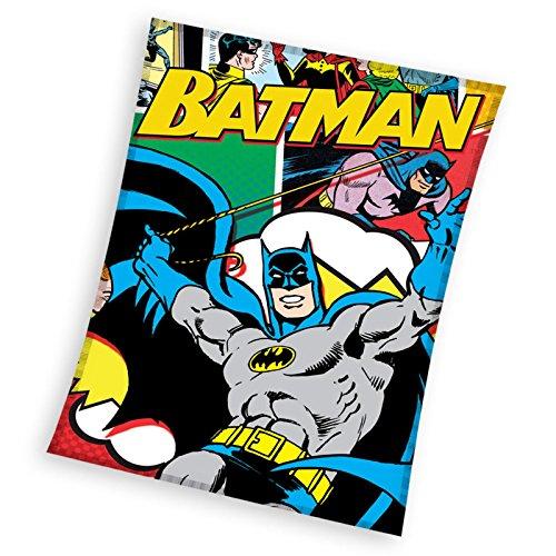 Batman Plaid Fleece, Polyester, Mehrfarbig, 110x 140x 2cm -
