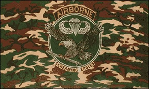 U24 Fahne Flagge Airborne Screaming Eagle Camouflage 90 x 150 cm (Flagge Camouflage)