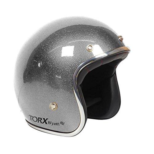 TORX Casque Moto WYATT, SHINY GLITTER ANTHRACITE, Taille S