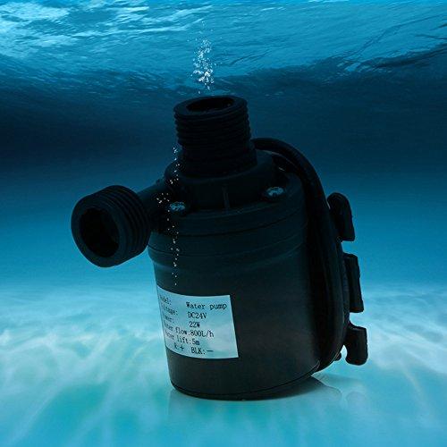 SHIJING 800 L/H 5 mt DC 12 V 24 V Solar Brushless Motor Wasser Umwälzpumpe Tauchwasserpumpen,2 -