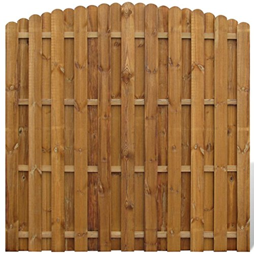 vidaXL Panel de Valla Arqueado de Jardín Madera Marrón Pared de Cerca 180x180