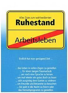 Karte XXL -zum Ruhestand-: Amazon.de: Bürobedarf ...