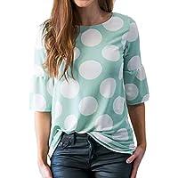 Geili Damen Kurzarm Mode Tops Frauen Polka-Dot Bell Ärmel Aufflackernhülse T-Shirt Tops Bluse Sommer Oberteile preisvergleich bei billige-tabletten.eu