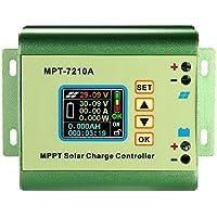Anself MPPT Regolatore 24/36/48/60 / 72V 10A DC-DC di carica pannello solare batteria Regolatore con display LCD a colori Boost funzione di ricarica compatibile