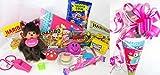 Geschenkpost24 101621 Schultüte 22cm Monchhichi Mädchen gefüllt mit Schlüsselanhänger Yoyo Radierer Süßigkeiten