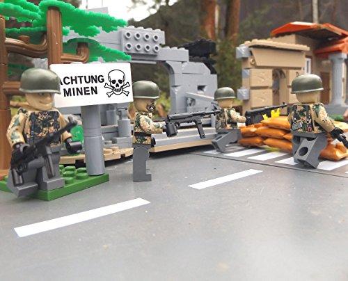 Modbrix 8821- ✠ 2 STÜCK Custom Minifiguren Wehrmacht Fallschirmjäger aus original Lego® Teilen inkl. MP40 Maschinenpistole ✠ - 2