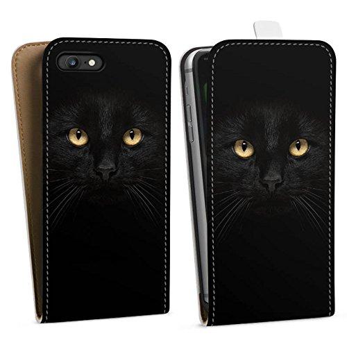 Apple iPhone X Silikon Hülle Case Schutzhülle Katze Augen Cat Downflip Tasche weiß