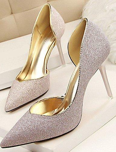 WSS 2016 Chaussures Femme-Décontracté-Noir / Bleu / Argent / Or / Bordeaux-Talon Aiguille-Talons-Talons-Laine synthétique black-us7.5 / eu38 / uk5.5 / cn38