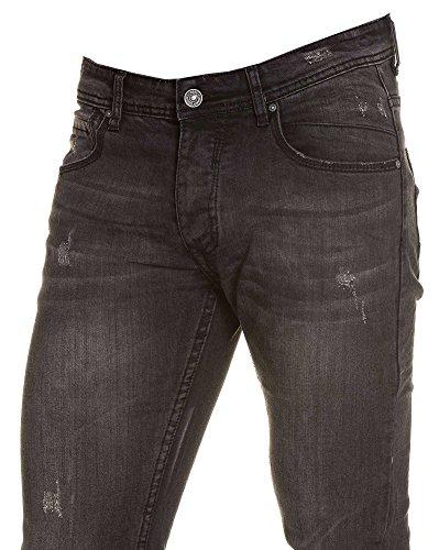 BLZ jeans - schwarze Jeans getragen verblasste Mann Schwarz