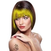 Smiffy's Paint Glow UV Neon tiza de pelo, con aplicador de esponja, 3.5 g, color amarillo (46087)