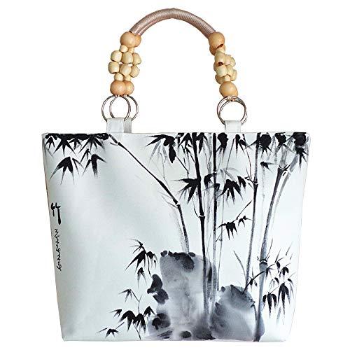 Jiu Bu Mode, Lässig, Hand Gezeichnet, Dame, Segeltuch, Handtasche, Eigenschaften, Ethnische Art, Handgemacht, Einkaufstasche,B - Bu Mode