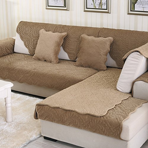 Sofaüberwurf,Plüsch Einfache Sofabezug Anti-schleudern Sofa Flanell Sofaüberwurf Waschbar 1pc-C 110x240cm(43x94inch) (Polster Stoff Protector)