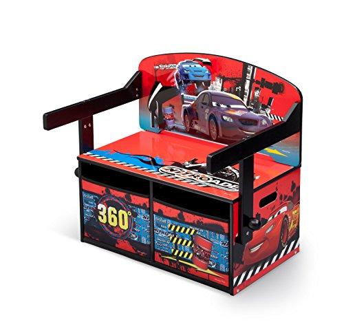 Delta children cars banco gioco 3 in 1, legno, multicolore, 62.23 x 43.18 x 57.15 cm