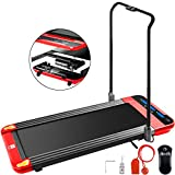 Hopopular Folding Smart Treadmill with Handrail 220lbs Under Desk Walking Treadmill Slim Fitness