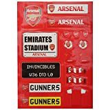 Arsenal FC Childrens/Kids Official Sticker Set