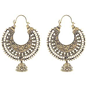 Ganapathy Gems Oxodised Brass Chand Bali Type With Jhumka Earring for Women