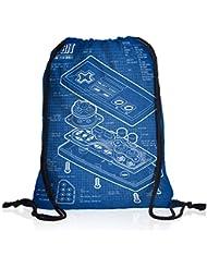style3 NES Controlador Fotocalco Azul Bolsa mochila bolsos unisex gymsac 8-Bit mario donkey bros kong