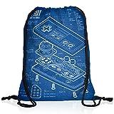 style3 NES Controller Cianografica Borsa da spalla sacco sacchetto drawstring bag gymsac 8-Bit mario donkey bros kong