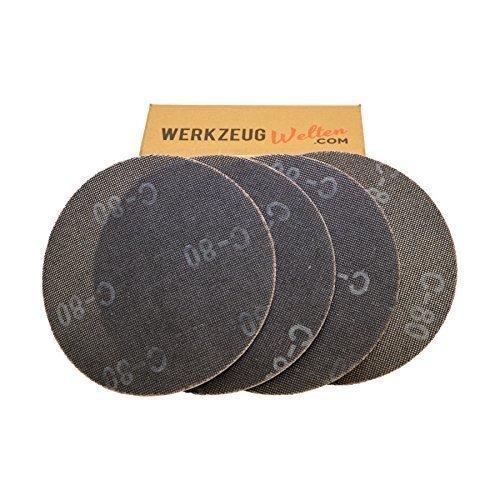 Schleifgitter 225 Klett | 25 Stück | Schleifscheiben Korn 80 | Ø 225 mm | Geeignet für Deckenschleifer, Trockenbauschleifer und Tellerschleifer