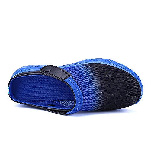 Bwiv Unisex Mesh Clogs Umweltfreundlich Leicht EVA Sohle Mit Schuhe Tasche Größenbereich 36 bis 46 Dunkelblau