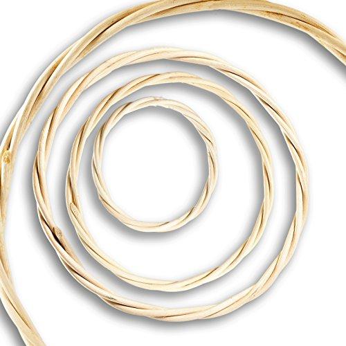 Rattan-ring (Rattan-Ringe, Traumfängerring, Ring f. Mobiles, Fensterhänger 7,9,18,22,30,40 cm, Größe:40cm)