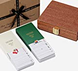 Jaques of London Playing Card Set - Luxury Twin Pack Playing Cards Mahogany Cased