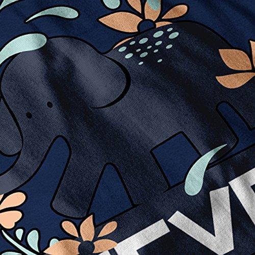 Nicht Vergessen Elefant Nie Damen Schwarz S-2XL Muskelshirt   Wellcoda Marine